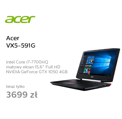 Acer VX5-591G i7-7700HQ/8GB/1000/Win10 GTX1050