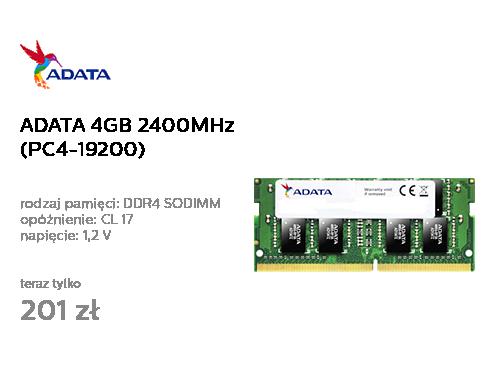 ADATA 4GB 2400MHz 1.2V CL17