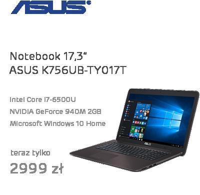 ASUS K756UB-TY017T-8 i7-6500U/8GB/1TB/DVD/Win10 GT940