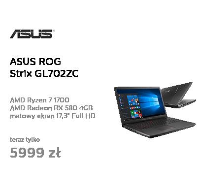 ASUS ROG Strix GL702ZC Ryzen 7/8GB/1TB/Win10 RX580