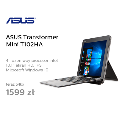 ASUS Transformer Mini T102HA x5-Z8350/4GB/64/W10 Szary