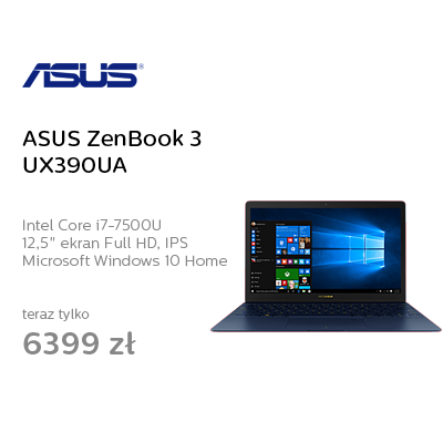 ASUS ZenBook 3 UX390UA i7-7500U/16GB/512SSD/Win10 FHD