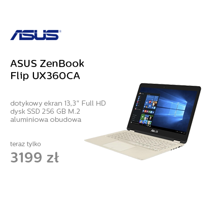 ASUS ZenBook Flip UX360CA M3-7Y30/8GB/256SSD/Win10