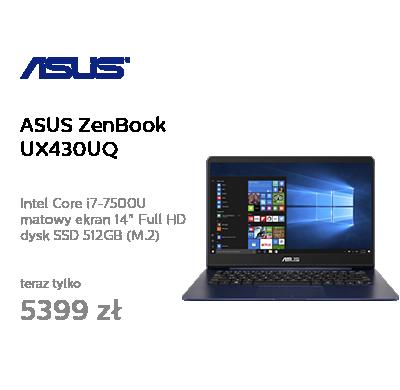 ASUS ZenBook UX430UQ i7-7500U/8GB/512SSD/Win10 GT940MX