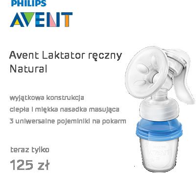 Avent Laktator ręczny Natural z pojemnikami na mleko