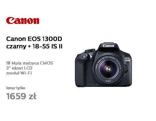 Canon EOS 1300D czarny + 18-55 IS II