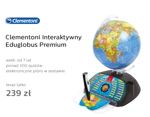 Clementoni Interaktywny Eduglobus Premium