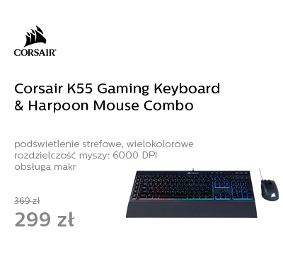 Corsair K55 Gaming Keyboard & Harpoon Mouse Combo (RGB)