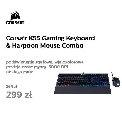 Corsair K55 Gaming Keyboard & Harpoon Mouse Combo (RGB)