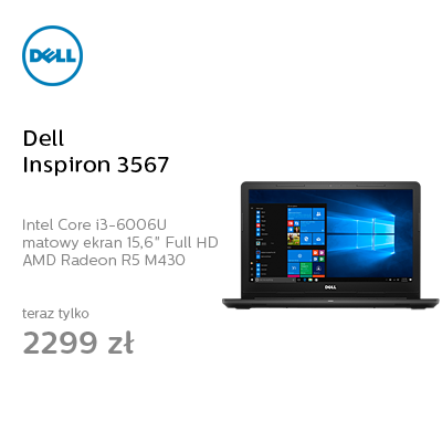 Dell Inspiron 3567 i3-6006U/8GB/1000/Win10 R5 FHD