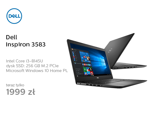 Dell Inspiron 3583 i3-8145U/8GB/256/Win10 Czarny