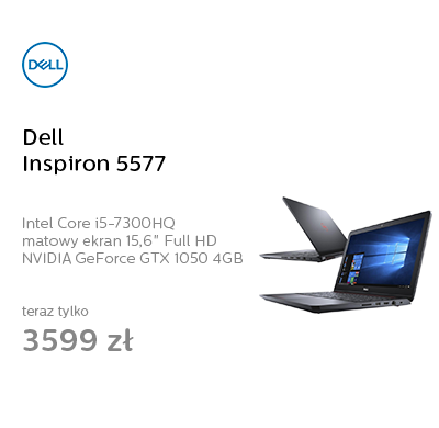 Dell Inspiron 5577 i5-7300HQ/8G/256/Win10 GTX1050