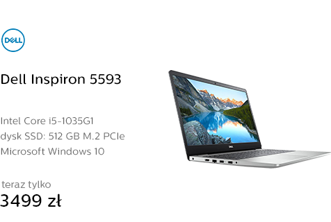 Dell Inspiron 5593 i5-1035G1/8GB/512/Win10 MX230