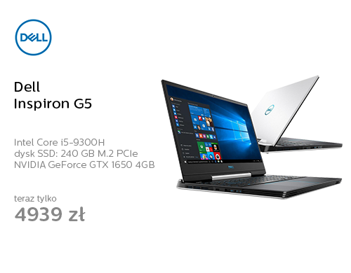 Dell Inspiron G5 i5-9300H/16GB/240+1TB/Win10 GTX1650