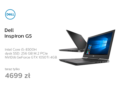 Dell Inspiron G5 i5-8300H/16GB/256+1000/Win10 GTX1050Ti