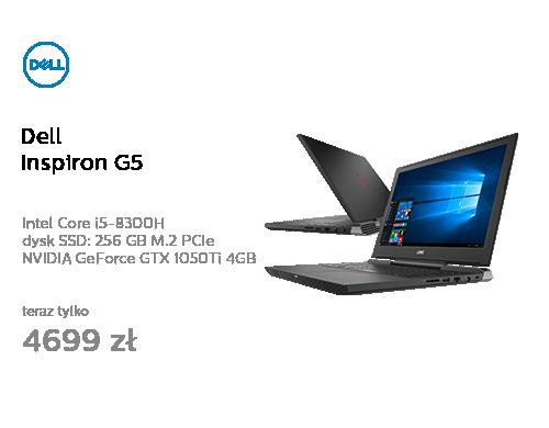 Dell Inspiron G5 i5-8300H/16GB/256+1000/Win10 GTX1050Ti