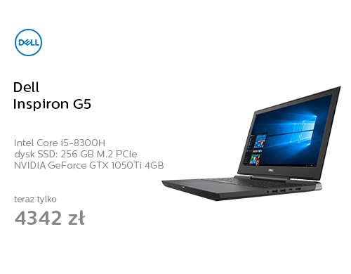 Dell Inspiron G5 i5-8300H/8GB/256+1000/Win10 GTX1050Ti