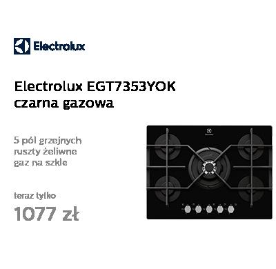 Electrolux EGT7353YOK czarna gazowa