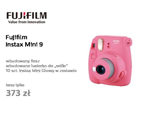 Fujifilm Instax Mini 9 różowy + wkład 10PK + pokrowiec