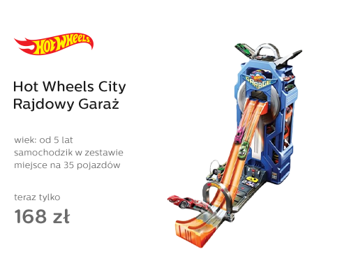 Hot Wheels City Rajdowy Garaż