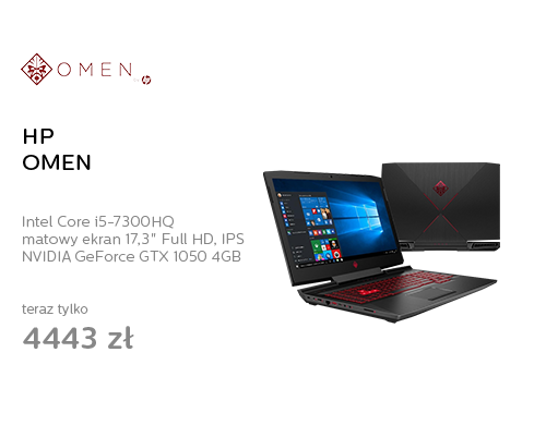 HP OMEN i5-7300HQ/8GB/1TB+128SSD/Win10 GTX1050