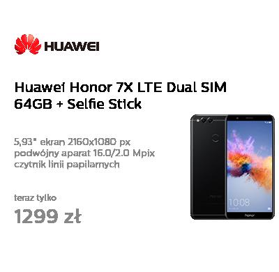 Huawei Honor 7X LTE Dual SIM 64GB czarny