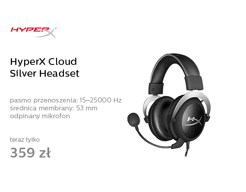 HyperX Cloud Silver Headset (srebrne)