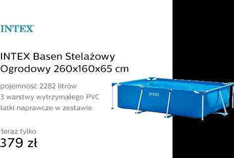 INTEX Basen Stelażowy Ogrodowy 260x160x65 cm