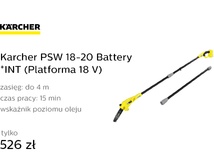 Karcher PSW 18-20 Battery *INT (Platforma 18 V)