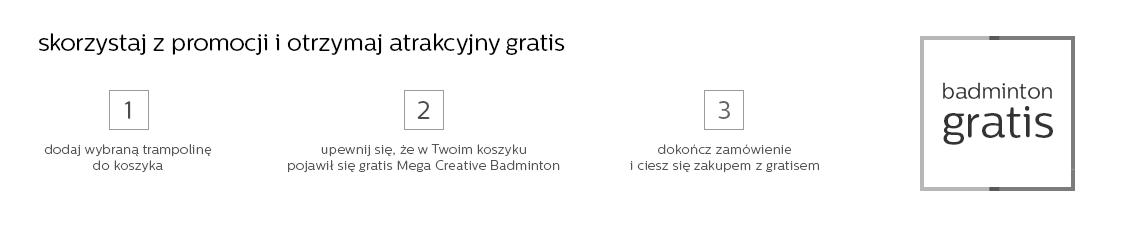 Trampoliny + gratis  Mega Creative Badminton