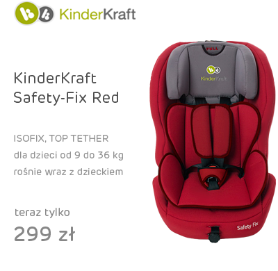 KinderKraft Safety-Fix Red z systemem isofix