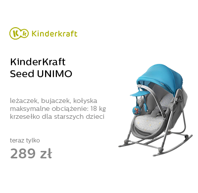 KinderKraft Seed UNIMO Leżaczek bujaczek kołyska blue