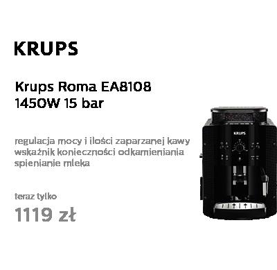 Krups Roma EA8108 1450 W 15 bar czarny