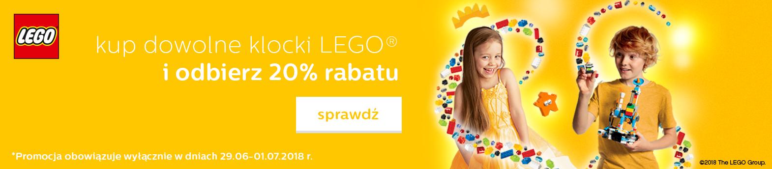 Wszystko z LEGO 20% taniej!