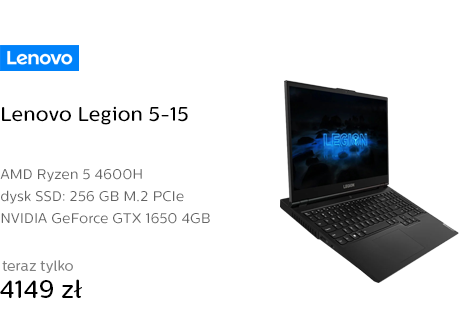 Lenovo Legion 5-15 Ryzen 5/32GB/256/Win10 GTX1650