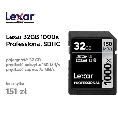 Lexar 32GB 1000x Professional SDHC UHS-II
