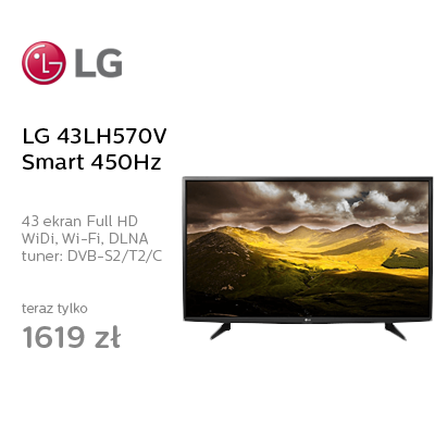 LG 43LH570V Smart FullHD 450Hz WiFi 2xHDMI USB
