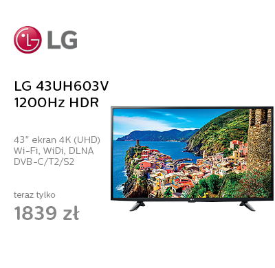 LG 43UH603V Smart 4K 1200Hz WiFi 3xHDMI HDR