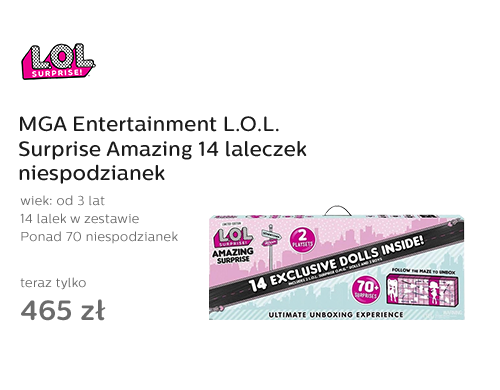 MGA Entertainment L.O.L. Surprise Amazing 14 laleczek niespodzianek
