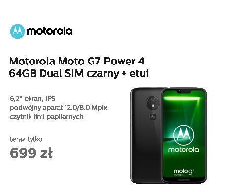 Motorola Moto G7 Power 4/64GB Dual SIM czarny + etui