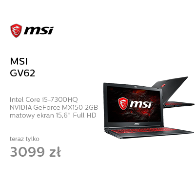 MSI GV62 i5-7300HQ/8GB/1TB MX150