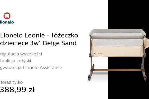 Lionelo Leonie - łóżeczko dziecięce 3w1 Beige Sand