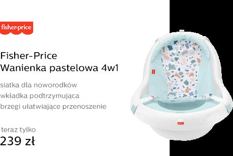 Fisher-Price Wanienka pastelowa 4w1