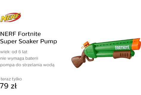 NERF Fortnite Super Soaker Pump