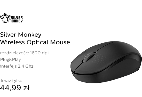 Silver Monkey Wireless Optical Mouse