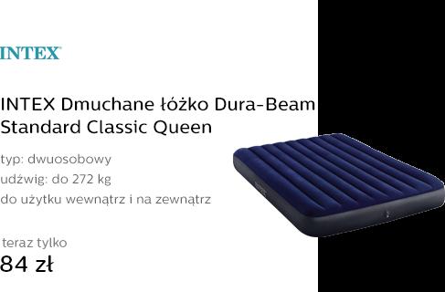 INTEX Dmuchane łóżko Dura-Beam Standard Classic Qu