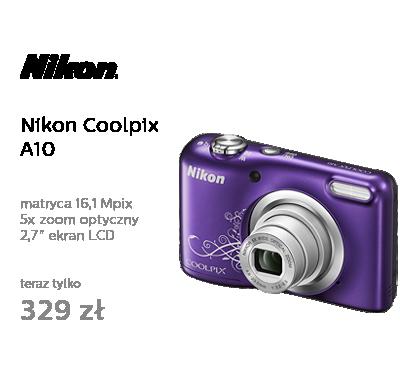 Nikon Coolpix A10 fioletowy z ornamentem