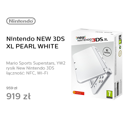 Nintendo NEW 3DS XL PEARL WHITE + MARIO SPORTS + YW2