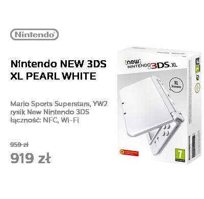 Nintendo NEW 3DS XL PEARL WHITE + MARIO SPORTS + YW2