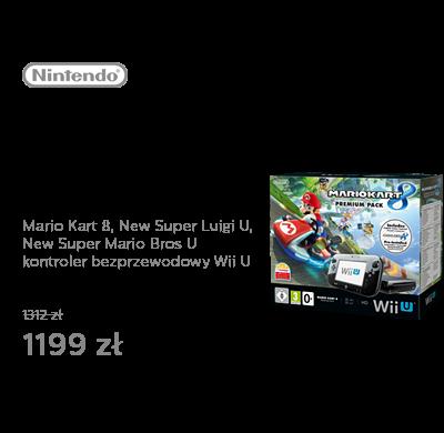 Nintendo Wii U Premium Pack Black + Mario Kart 8 +NSMB+NSLU